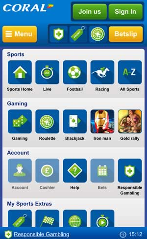coral online betting app